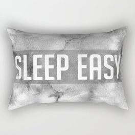 Sleep Easy Marble Mantra Rectangular Pillow