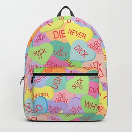 Candy Hearts Pattern - NSFW Backpack