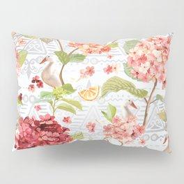 Pattern flowers with orange duck Pillow Sham