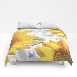 Sunflower Bouquet #decor #society6 #buyart Comforters