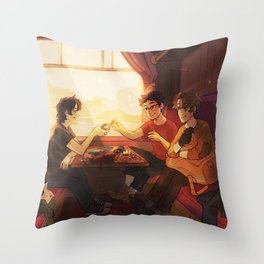 Sunfilled compartment Throw Pillow