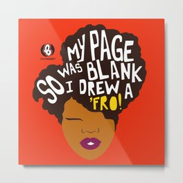 'Fro Page Metal Print