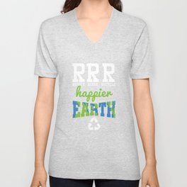 Reduce Reuse Recycle Unisex V-Neck