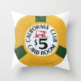 California Club - Casino Chip Series Throw Pillow