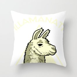 Llama Alpaca Animal Funny Trend Lama Rama Gift  Throw Pillow