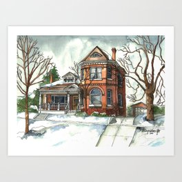 Victorian House in The Avenues Art Print