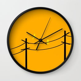Two Birds on a Wire Wall Clock