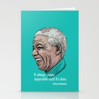 mandela Stationery Cards featuring Mandela by Fortissimo6