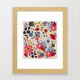 Summer Flowers - Pattern Framed Art Print
