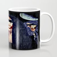 warrior Mugs featuring Warrior by    Amy Anderson