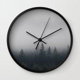 Northwestern misty forest Wall Clock