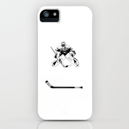 Ice Hockey Goalie Goalkeeper Keeper Goalkeeper iPhone Case