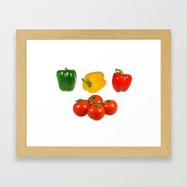 Vegetables with white background Framed Art Print