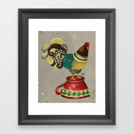 Rooster Willow Framed Art Print