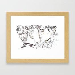 Malec kiss Framed Art Print