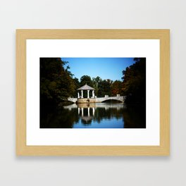 Gazebo stone Bridge in the Park Framed Art Print