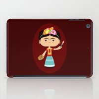 frida kahlo iPad Cases featuring Frida Kahlo by Sombras Blancas Art & Design