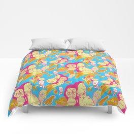 Electric Banana Monkey Comforters