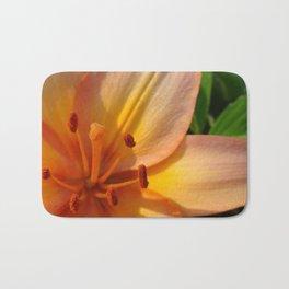 Orange Lily Closeup Bath Mat