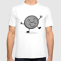 Siamese Twin Button Mens Fitted Tee White SMALL