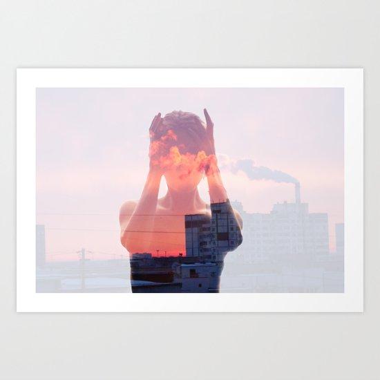 Insideout 8. Mind Pollution Art Print