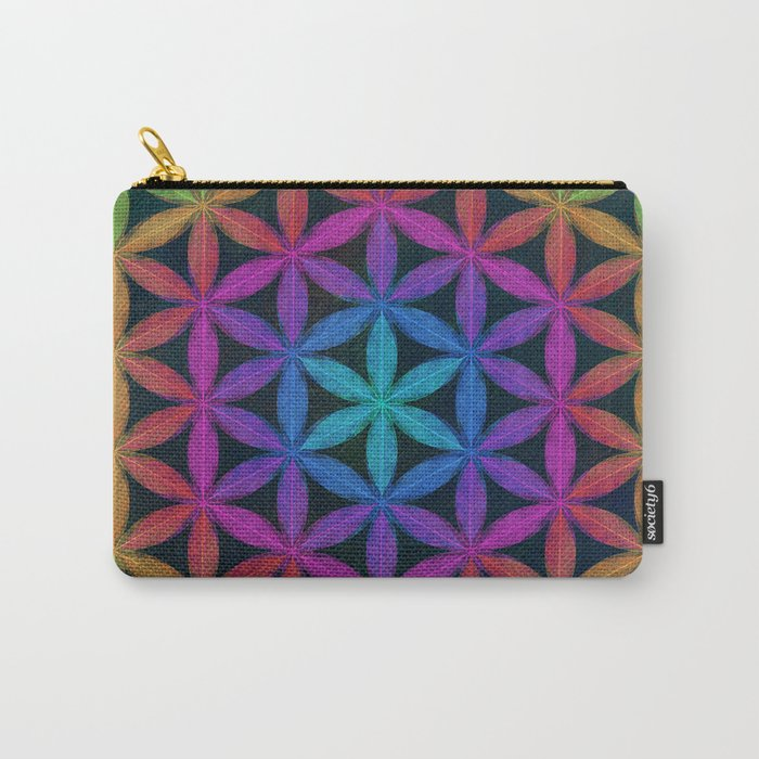 The Flower of Life (Sacred Geometry) 4 Carry-All Pouch