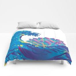 Hokusai Rainbow & Lotus Comforters