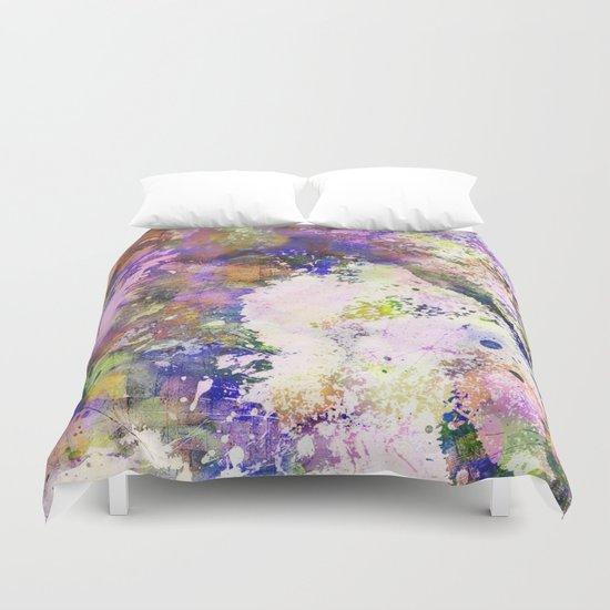 Colour Turmoil - Abstract Multicoloured Painting Duvet Cover