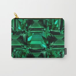 CLUSTERED FACETED EMERALD GREEN MAY GEMSTONES Carry-All Pouch