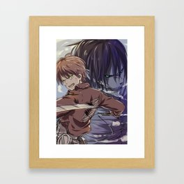 SnK-Eren Framed Art Print