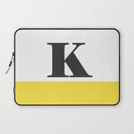 Monogram Letter K-Pantone-Buttercup Laptop Sleeve