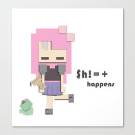 $h!=+ happens Canvas Print