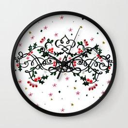 Christmas Plaq Wall Clock