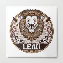 Lead Metal Print