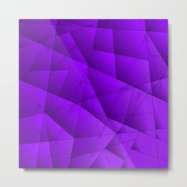 Bright contrasting violet fragments of crystals on triangles of irregular shape. Metal Print
