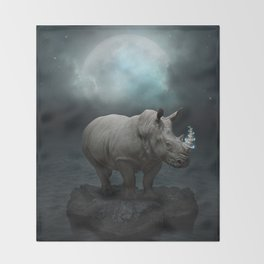 Power Is No Blessing In Itself v.1 (Protect the Rhino)  Throw Blanket