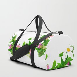 Summer Meadow Flowers White Background #decor #society6 #buyart Duffle Bag