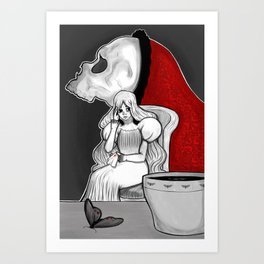 There's Something In The Tea Art Print