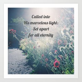 Called and Set Apart – Christian Truth Art Print