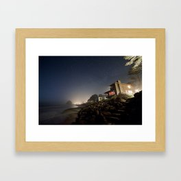 Starry Beach Framed Art Print
