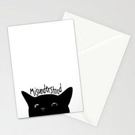 Black Cat Misunderstood Stationery Cards