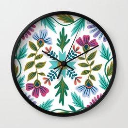 Summer Quilt No.1 Wall Clock