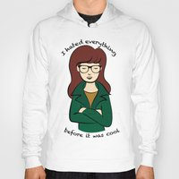 daria Hoodies featuring  Daria, the Original Hipster by Elizabeth A