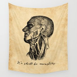 Frankenstein - Mary Shelley - We Shall Be Monsters Wall Tapestry