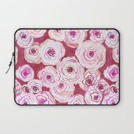 ROSIE VIEW Red Watercolor Roses Laptop Sleeve