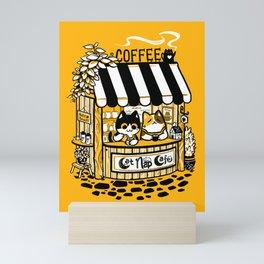 Cat Nap Cafe Mini Art Print