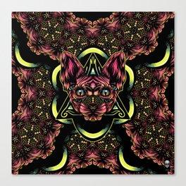 Sphynx floral color Canvas Print