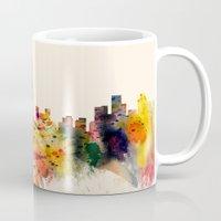 toronto Mugs featuring  Toronto  by mark ashkenazi