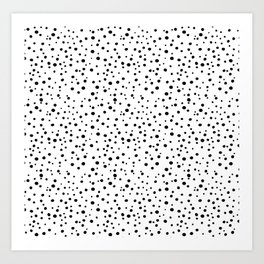 PolkaDots-Black on White Art Print
