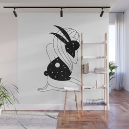 Follow The White Rabbit Wall Mural